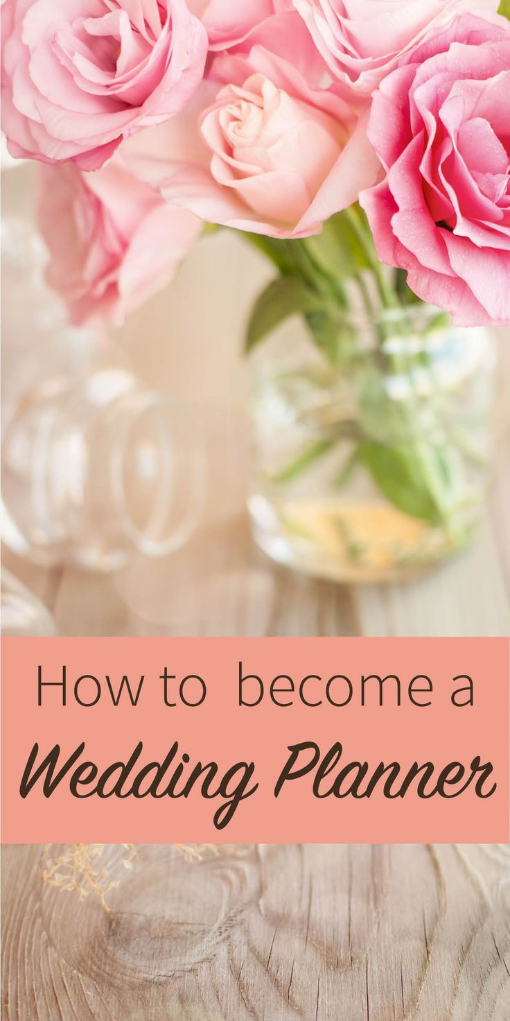 Interested in becoming a certified wedding and event planner? Take our online certificate program and make someone's wedding dreams come true. #WeddingPlanner #weddingplannerbecominga
