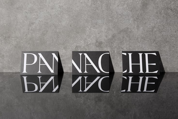 Panache, high-end hair salon branding by @Caserne