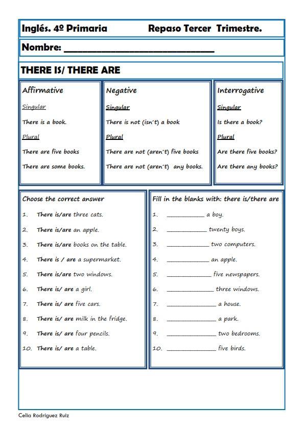 Fichas inglés cuarto primaria. Niños de 9-10 años | English ...