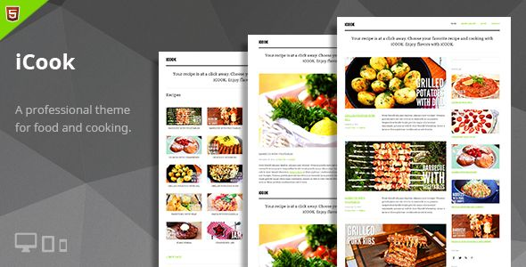 iCook – Food Blog HTML Theme   http://themeforest.net/item/icook-food-blog-html-theme/6977376?ref=damiamio            Thank you for your interest shown to TeslaThemes and your purchase of iCook Theme. We highly appreciate this.  Support IMPORTANT NOTICE: We are providing support only via our Support Forum. Feel free to ask your questions there, our dedicated team will provide you the best solution. Best for iCook is a clean, minimalist and powerful food blog driven HTML Theme. It is a strong…