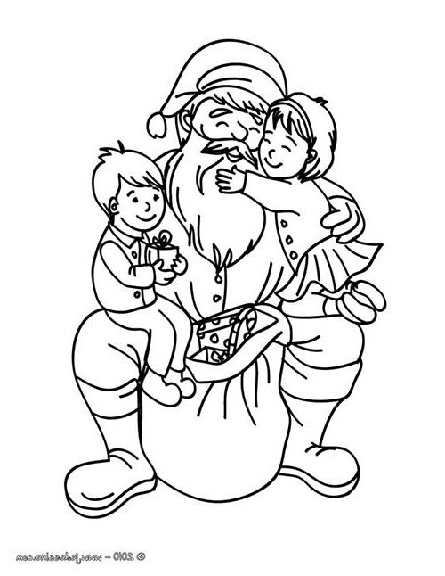 10 Bon Papa Noel Coloriage Images | Coloriage, Coloriage minnie