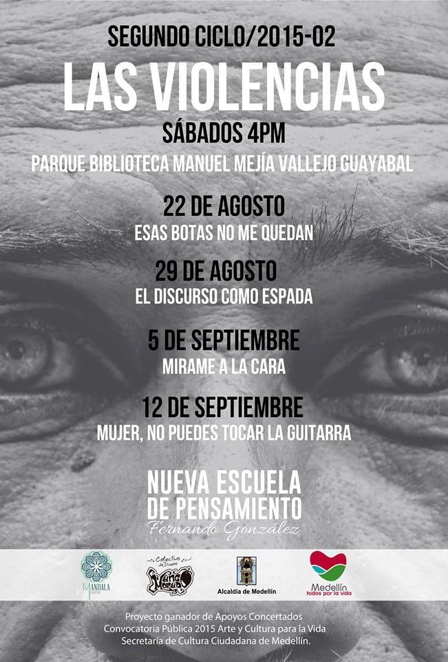 """""""El discurso como espada"""" este 29 de agosto en el Parque Biblioteca Guayabal."""