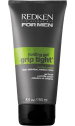 Grip Tight Shine & Texturizing Holding Hair Gel For Men by Redken. Long-lasting, high-control hair gel increases grip while providing high-shine and texture.
