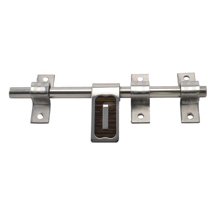 Klaxon WOODTOUCH Steel Latch (Chrome Finish, 8 Inch)