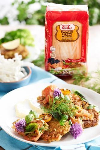 Tao Tao - Racuchy ryżowe z wędzonym łososiem TaoTao - orientalne przepisy kulinarne