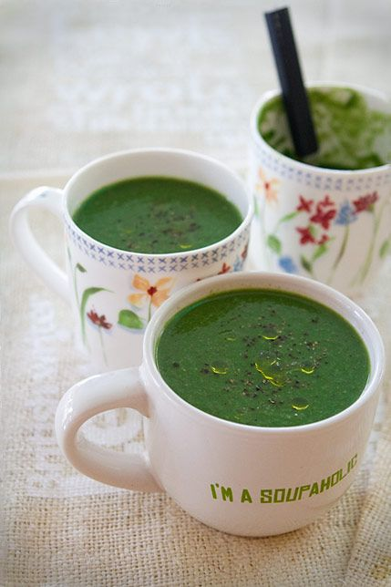 Spinach Mushroom Soup & How to Keep Spinach Green While Cooking