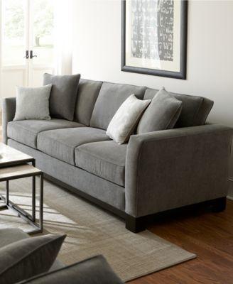 "Kenton Fabric Sofa Bed, Queen Sleeper 88""W X 38""D X 33""H: Custom Color Graphite   $1098.00"
