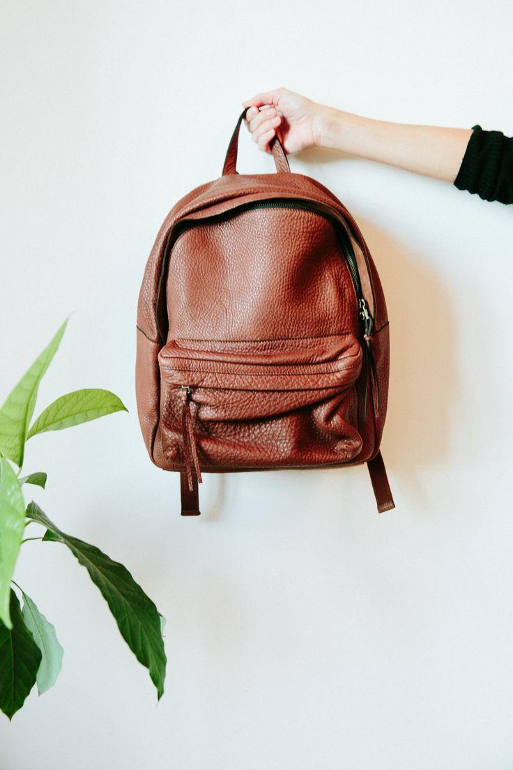 Madewell Fall 2014 catalog. Madewell Lorimer leather backpack. #fallmadewell