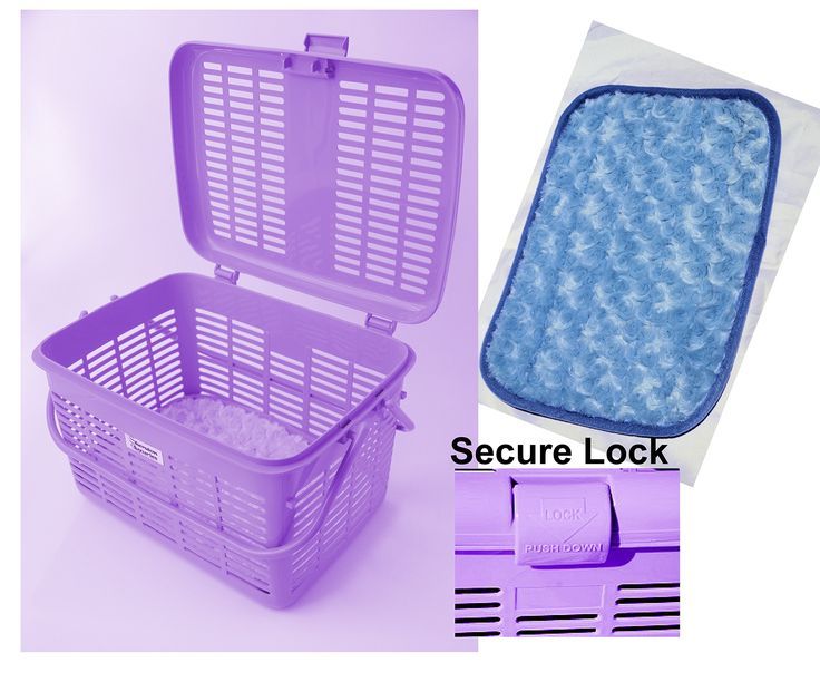 1 Safe Stylish Pet Cat Carriers Easy Open Wide Top Load Door Fully Assembled Easily Place and See Cats Dogs Rabbit Small Animals inside 16x11.63x10.25 Free Soft Fur Mat Purple (Lavender)