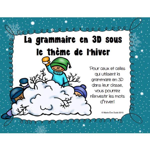 Grammaire en 3D - Hiver