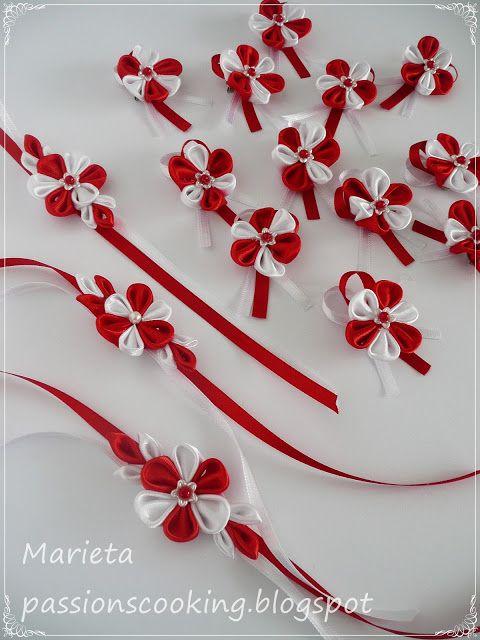 Мартенички изработени от панделки