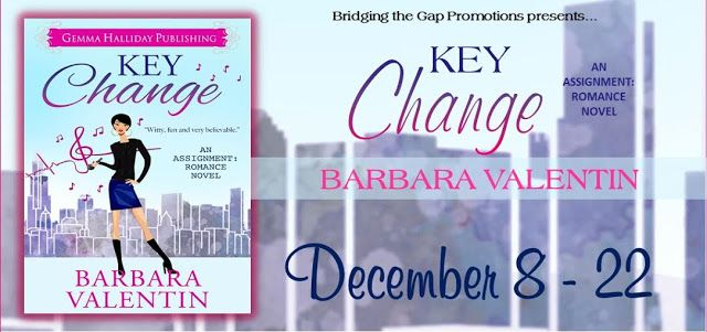Like Romantic Comedy? Like Contemporary Romance? Check out the Virtual Tour & ‪#‎Giveaway‬ for Key Change by Barbara Valentin and Enter to ‪#‎Win‬ a $25 Amazon GC..... @BridgGapPR @gemmahallidayca @SpinningInBurbs