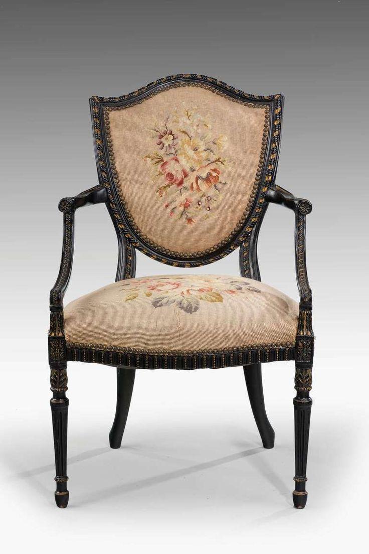 Late 19th Century Mahogany Elbow Chair