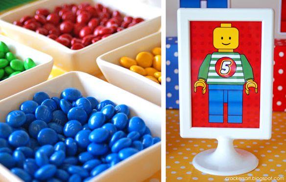 lego feestje - wat te snoepen, lekker gesorteerd