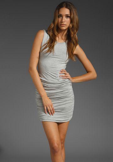 simple, sexy grey dress