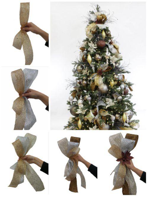 Christmas Ribbon, Christmas Bow, Poinsettia