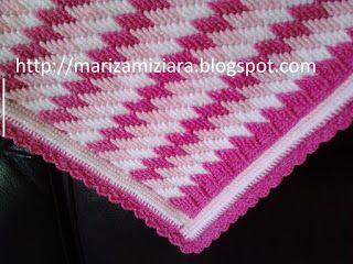 marizamiziara: Cobertor para bebê feito em crochê. cobertor para carrinho de bebê.