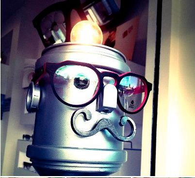 #Robotic #Pink #Black #Light #Cute #Mustache #futuristic