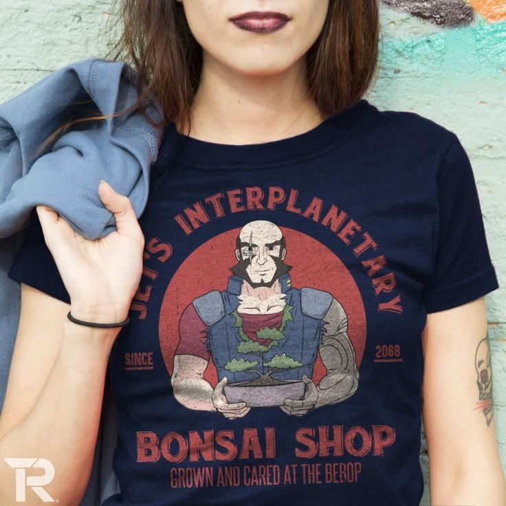 "My design ""Jet's Bonsai Shop"" is live at Ript Apparel. #LiRoViDesigns #CowboyBebop #SpaceCowboy #BountyHunter #Anime #GraphicTee #DigialIllustration #LogoDesign #Bonsai #Retro"