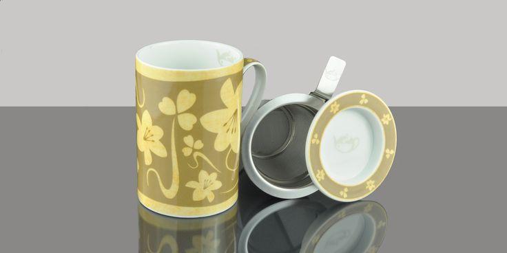 Mug Cylinder Gracia Blend gold background