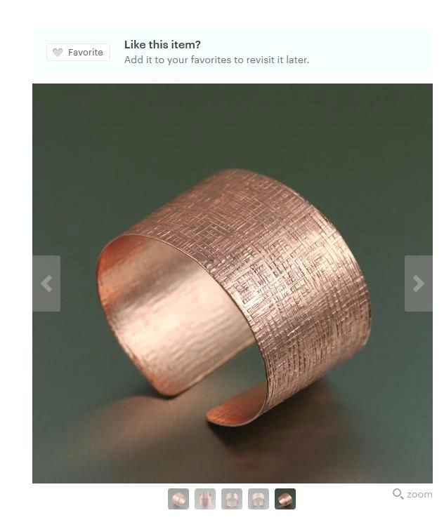 Fashion-foward Linen Rose Gold-Tone Cuff Bracelet Presented by #Etsy #Cuffs #7thAnniversary https://www.etsy.com/listing/220953437