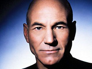 Patrick Stewart - You can beam me up anytime, baldy.