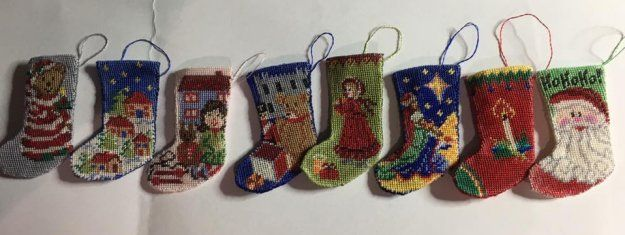 Dollhouse inspiration – stitching in miniature to see! Here's a round-up of images of 1:12 miniature needlepoint for dollhouses that my customers have sent me recently.  Janet Granger's Blog
