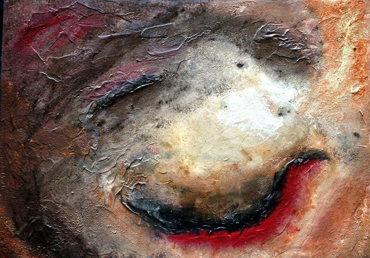 This Abstract piece showcases the beautiful red blood on the rich, coloured earth. Every time you look at it you will discover a new colour, texture or visual effect that you didn't see before.  This is a limited edition piece. Only 1 has been created so you can be sure you will have a unique piece of Aboriginal Artwork in your home.  http://artfuly.com/artists/dreamonaboriginalarts/blood-of-the-earth