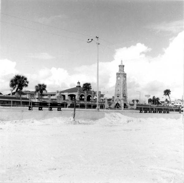 Florida Memory Clock Tower On The Boardwalk At Daytona