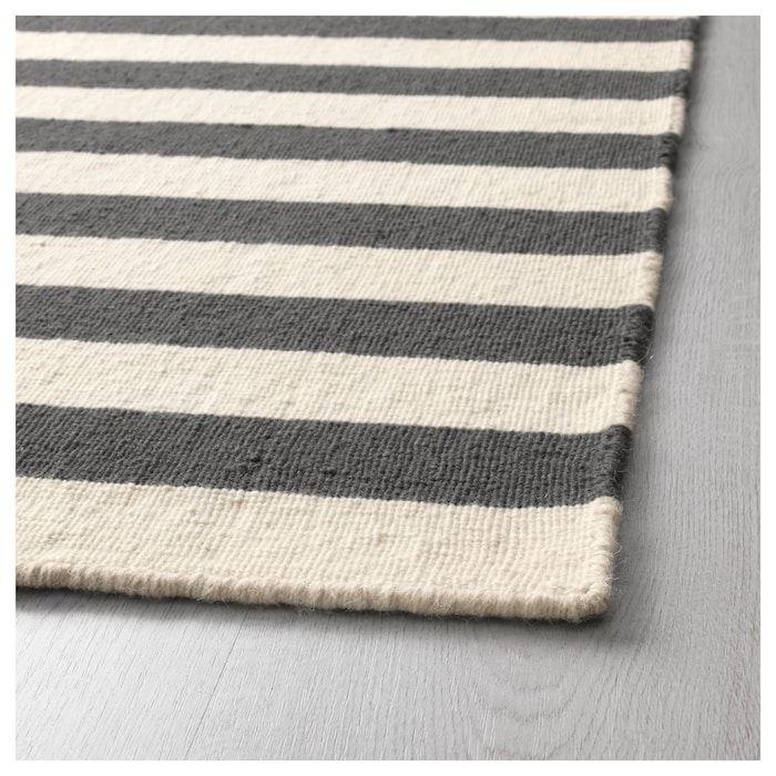 Ikea Grey Striped Rug