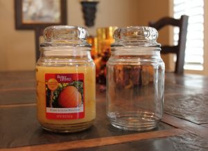 cleaning out candle jars