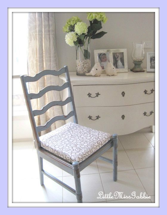 Miss Mustard Seed Milk Paint French Enamel  Chair makeover