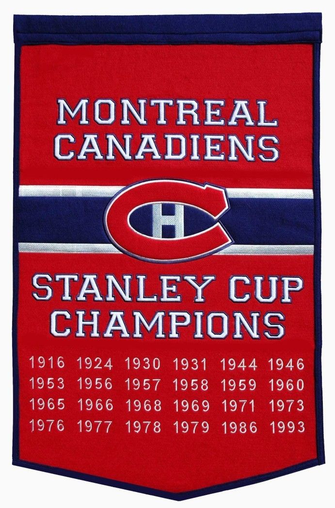 "Montreal Canadiens 24""x36"" Wool Dynasty Banner, starting at  $69.95 at MySportsDecor.com. Great for your bedroom, a kid's bedroom, or a dorm room. http://www.mysportsdecor.com/montreal-canadiens-dynasty-banner.html.... #montrealcanadien #montrealcanadienmerchandise #montrealcanadiendynastybanner"