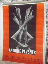 """affiche   Mourlot """"ANTOINE PEVNERS"""" musée national d'art moderne 12/1956-03/1957"""