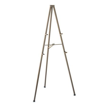 Quartet Tripod Display Easel, 72 inch High, Steel, Bronze