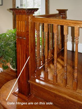 Image detail for -Newly Installed Newel and Stair Gate & Landing
