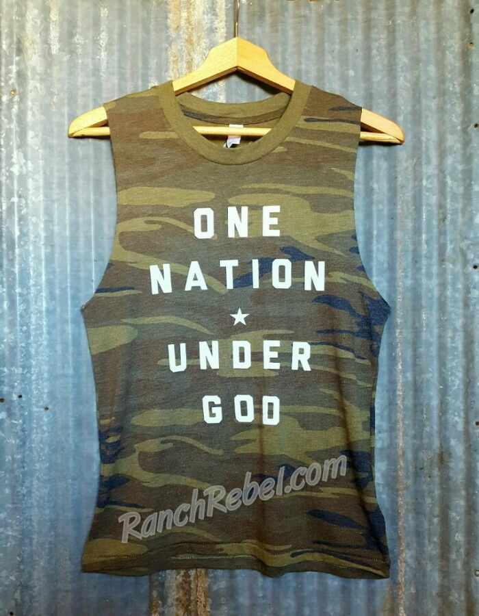 One Nation Under God Camo Muscle Tank #1742