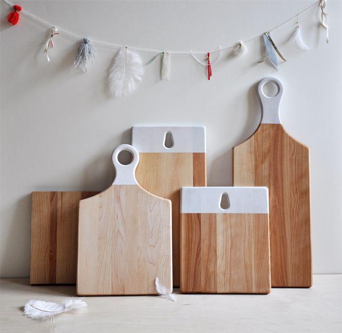 Planche à découper en bois/métal/verre mais PAS PLASTIQUE