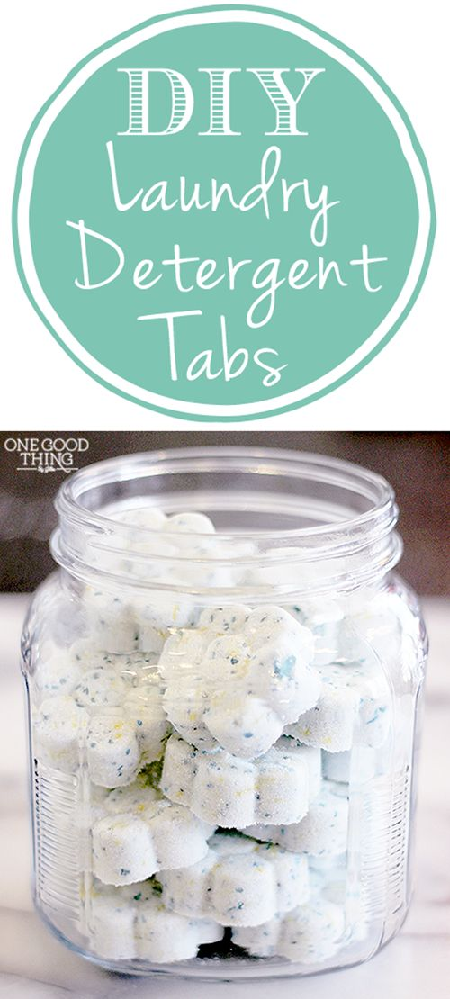 The convenience of detergent tabs without the high price tag! Super simple to make! DIY Homemade Laundry Detergent Tabs   One Good Thing By Jillee