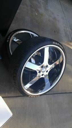 """24"""" Rims and Tires for sale $675"""