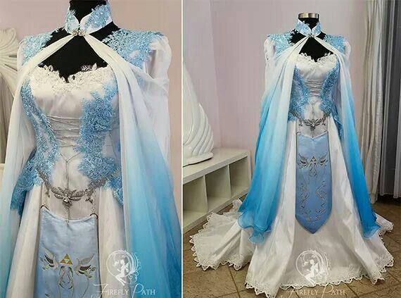 Blue Zelda Bridal Gown (Made by Firefly Path)