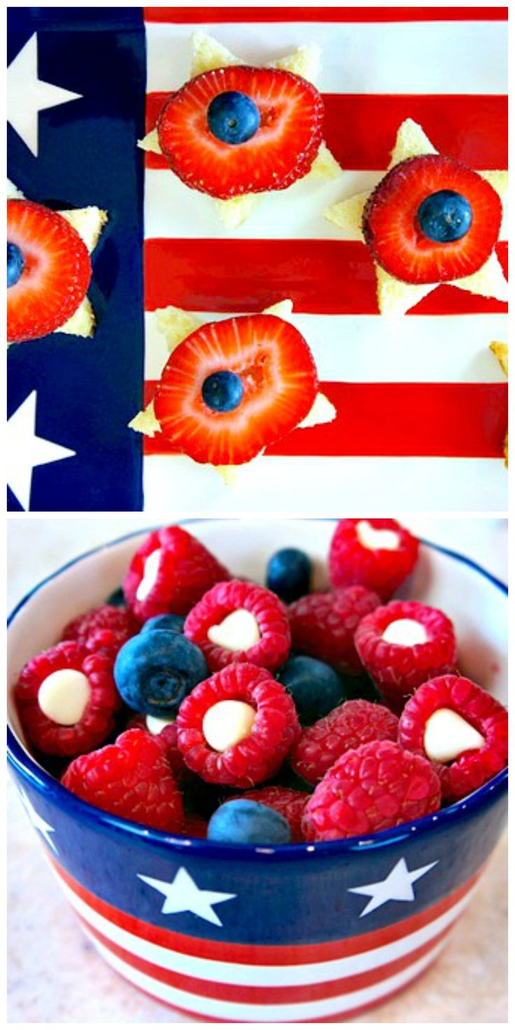 Chocolate Raspberries and Star Cakes - We're celebrating the #4thofJuly with some fun #classics and giving them a new twist and look.