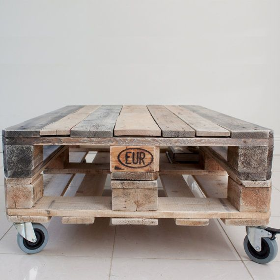 Pallet Coffee Table – Industrial Style – Upcycled Reclaimed Wood