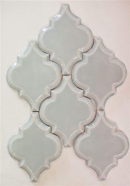 Beveled Arabesque Tile, color Shore Thing. Kitchen Backsplash & Shower Tiles. Free shipping on arabesque tiles.