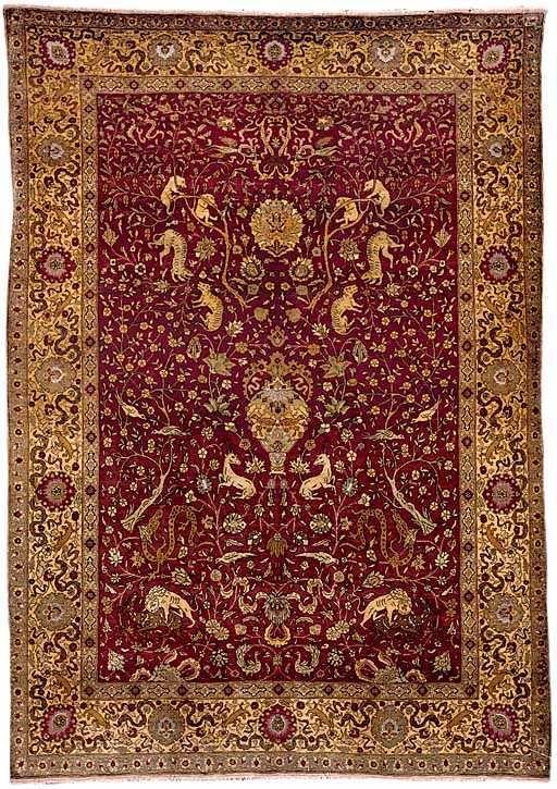 Antique Hereke Rugs: Hereke Silk and Metal Thread Prayer Rug circa 1900 lot 23