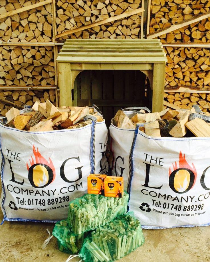 TLC Starter Bundle - a bag of hardwood and a bag of kiln dried hardwood logs, three nets of kindling, 2 packs of Zip firelighters. https://www.thelogcompany.com/shop/firewood-logs/log-burning-starter-pack