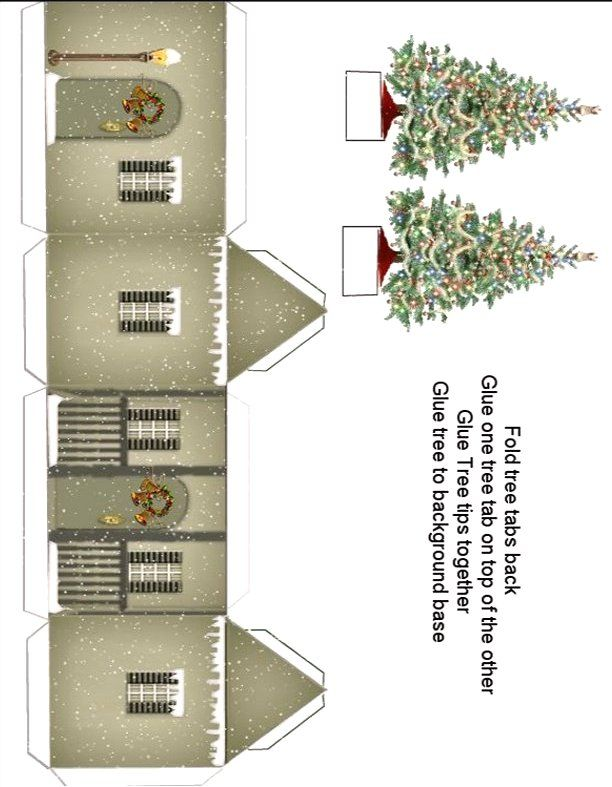 Paper Crafts - Playsets - Mini Christmas Village