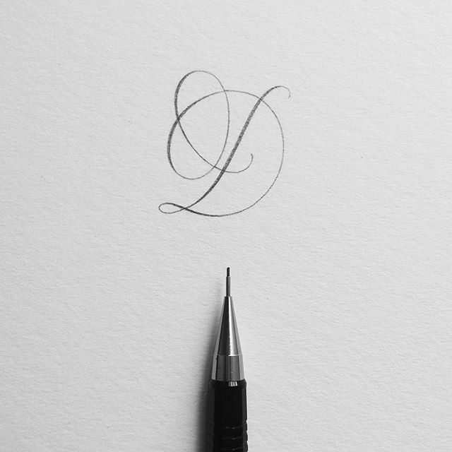 Letter D. #ep_letters #pencilcalligraphy #pencillettering
