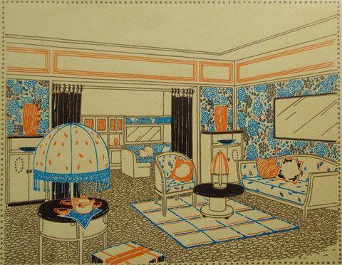 1920s French Art Deco Interior Design