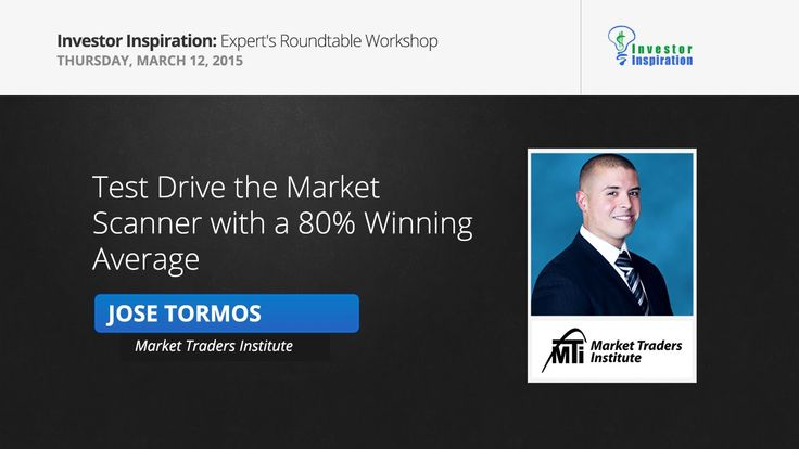 Test Drive The Market Scanner with a 80% Winning Average | Jose Tormos